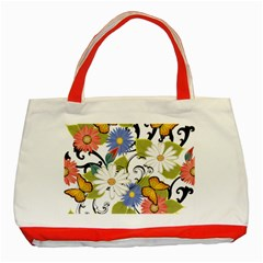 Floral Fantasy Classic Tote Bag (Red)