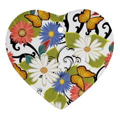 Floral Fantasy Heart Ornament (Two Sides)