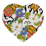 Floral Fantasy Heart Ornament (Two Sides) Back
