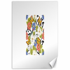 Floral Fantasy Canvas 20  X 30  (unframed)