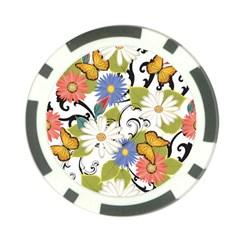 Floral Fantasy Poker Chip