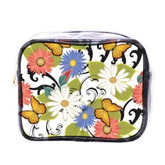 Floral Fantasy Mini Travel Toiletry Bag (one Side)