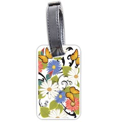 Floral Fantasy Luggage Tag (Two Sides)