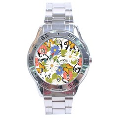 Floral Fantasy Stainless Steel Watch