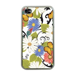 Floral Fantasy Apple Iphone 4 Case (clear)