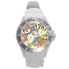 Floral Fantasy Plastic Sport Watch (large)