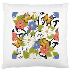 Floral Fantasy Large Cushion Case (two Sided)
