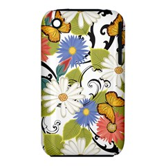 Floral Fantasy Apple iPhone 3G/3GS Hardshell Case (PC+Silicone)