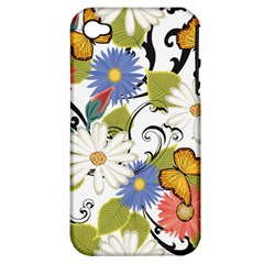 Floral Fantasy Apple Iphone 4/4s Hardshell Case (pc+silicone)