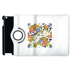 Floral Fantasy Apple iPad 3/4 Flip 360 Case