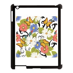 Floral Fantasy Apple Ipad 3/4 Case (black)