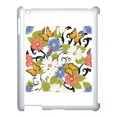 Floral Fantasy Apple iPad 3/4 Case (White)