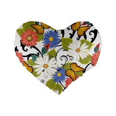 Floral Fantasy 16  Premium Heart Shape Cushion