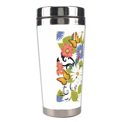 Floral Fantasy Stainless Steel Travel Tumbler