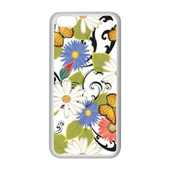 Floral Fantasy Apple iPhone 5C Seamless Case (White)