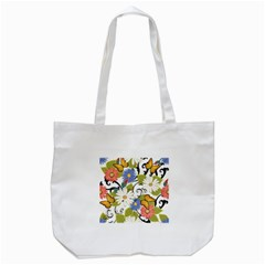 Floral Fantasy Tote Bag (White)