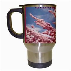Weeping Cherry Travel Mug (white)