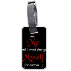 Rude Attitude Wallpaper 10203165[1] Luggage Tag (two Sides)