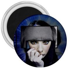 Fibro Brain 3  Button Magnet