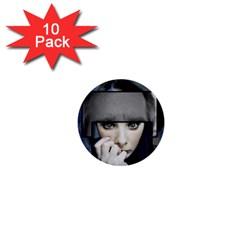 Fibro Brain 1  Mini Button (10 Pack)
