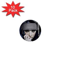 Fibro Brain 1  Mini Button Magnet (10 Pack)