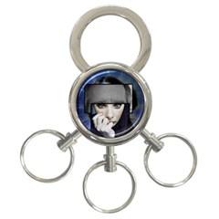 Fibro Brain 3 Ring Key Chain