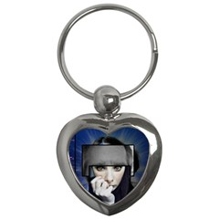 Fibro Brain Key Chain (Heart)