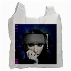 Fibro Brain White Reusable Bag (two Sides)