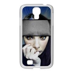 Fibro Brain Samsung GALAXY S4 I9500/ I9505 Case (White)