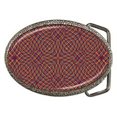 Trippy Tartan Belt Buckle (Oval)