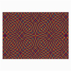 Trippy Tartan Glasses Cloth (large, Two Sided)