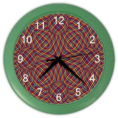 Trippy Tartan Wall Clock (color)