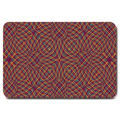Trippy Tartan Large Door Mat