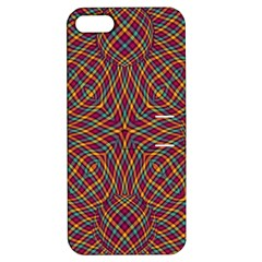 Trippy Tartan Apple Iphone 5 Hardshell Case With Stand