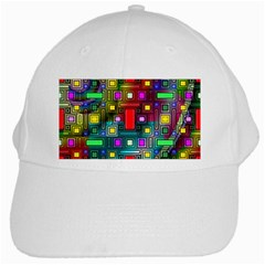 Abstract Modern White Baseball Cap