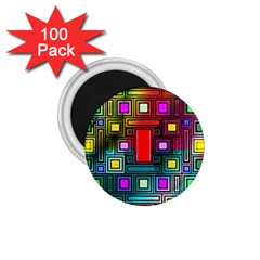 Abstract Modern 1.75  Button Magnet (100 pack)
