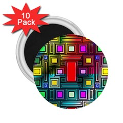 Abstract Modern 2 25  Button Magnet (10 Pack)