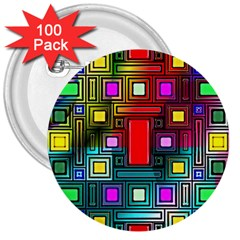 Abstract Modern 3  Button (100 pack)