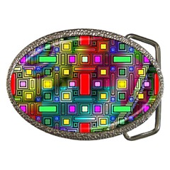 Abstract Modern Belt Buckle (Oval)