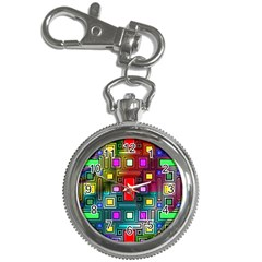 Abstract Modern Key Chain Watch