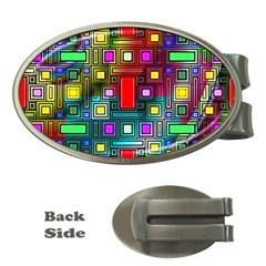 Abstract Modern Money Clip (Oval)