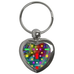 Abstract Modern Key Chain (heart)