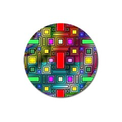 Abstract Modern Magnet 3  (Round)