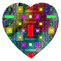 Abstract Modern Jigsaw Puzzle (Heart)
