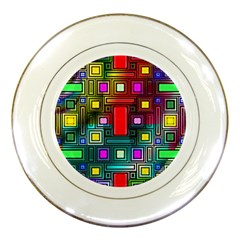 Abstract Modern Porcelain Display Plate