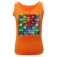 Abstract Modern Women s Tank Top (dark Colored)