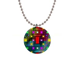 Abstract Modern Button Necklace