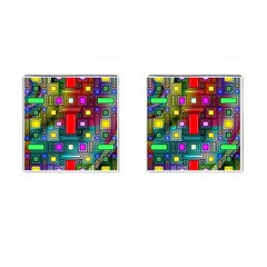 Abstract Modern Cufflinks (square)