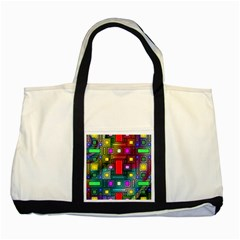 Abstract Modern Two Toned Tote Bag