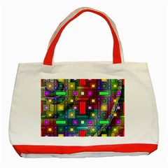 Abstract Modern Classic Tote Bag (Red)